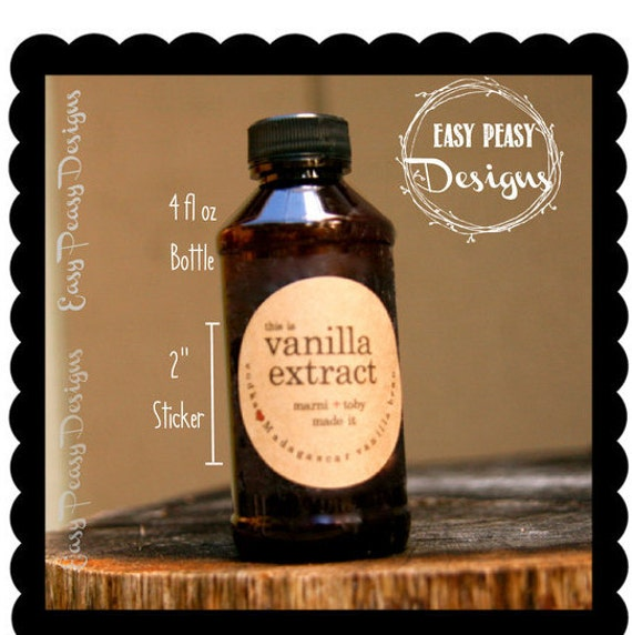 Extract Label Vanilla Extract Bottle Label