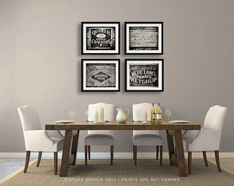 Art Kitchen Decor Country Kitchen Decor Farmhouse Kitchen Art Set
