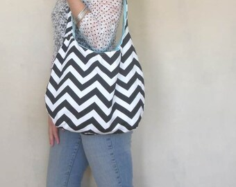 Over the shoulder hobo bag. Large purse. Design your own boho bag. Chevron, paisley, tribal,and linen blends