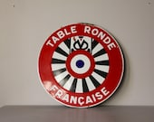 RARE French Enamel Plaque For the Association The Round Table 1975