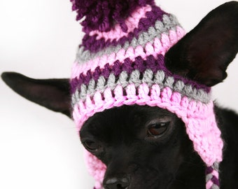 Crochet Pattern For Dog Hat With Ear Holes : Crochet dog clothes Etsy