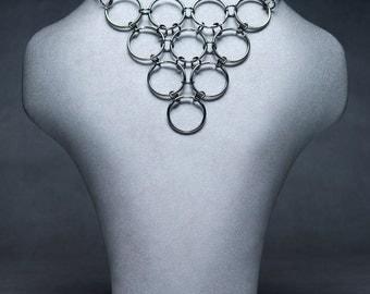 Rings Pyramid neck piece