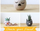 Free Shipping - Succulent planter / dog head planter / cactus planter / puppy vase/ Christmas gift / Dog lover gift / gift for her