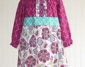Peasant Dress Sewing Pattern, Long Sleeve Peasant Dress Sewing Pattern, PDF Sewing Pattern, Peasant Dress Pattern, Girl Dress Sewing Pattern