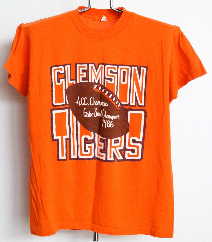 Vintage Clemson University T Shirt Mens Medium By