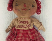 Primitive Raggedy Ann Doll Sweet Dreams