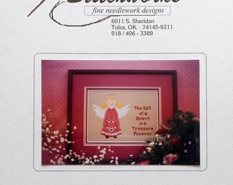 CLEARANCE The Stitchworks Needlework HEART ANGEL - Counted Cross Stitch Pattern Chart
