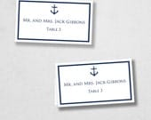 Avery Place Card Template -Anchor -  INSTANT DOWNLOAD - Escort Card - For Word and Pages - Mac and PC - Flat or Folded