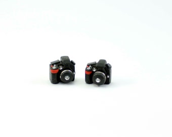 Miniature Camera Stud Earrings