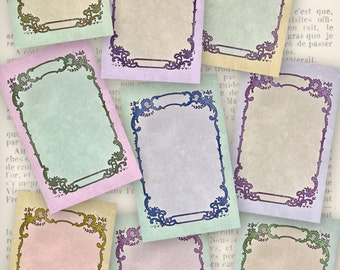 Vintage Blank Labels - printable / add your own text - VDLAVI1041