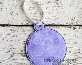 Custom Decorative Circle Bulb Christmas Ornament