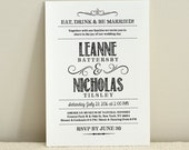 DIY Wedding Invitation Template / Handlettered Rustic Love / Instant Download