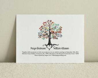 The Bohemian Tree / Wedding Invitation/ DIY Printable PDF Template