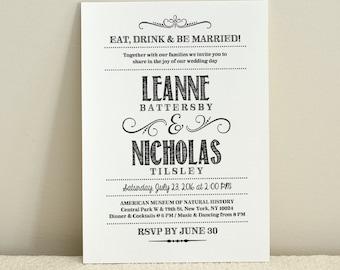 Handlettered Love / DIY Wedding Invitation Template / Instant Download