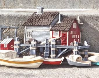Vintage Beach Cottage Wall Plaque Nautical Home Decor