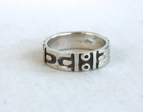 sterling silver mens ring mexican wedding by adobehousevintage