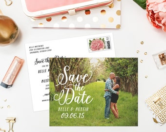 Young Love Save the Date Photo Postcard