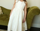 Silk Ava Dress for Baptism, Flower girl, Christening, Bat Mitzvah, Confirmation, Page in a Debutant Ball and Special Occation Dress