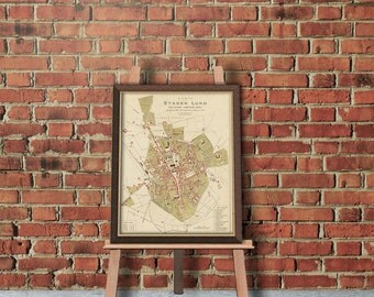 Map of Lund (Sweden) - Lund map print - Fine reproduction
