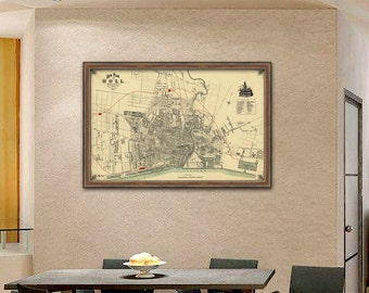 Hull map - Old map of Hull print - Fine  reproduction