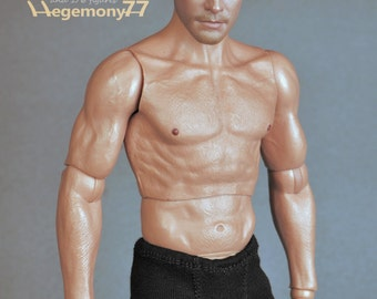 1/6th scale black boxer briefs male underwear for: action figures and male fashion dolls