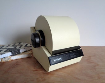 Rare Vintage White and Black Metal Rolodex
