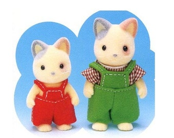 Sylvanian Families 2 sizes Boy Overalls and small A Dress Sewing Pattern PDF