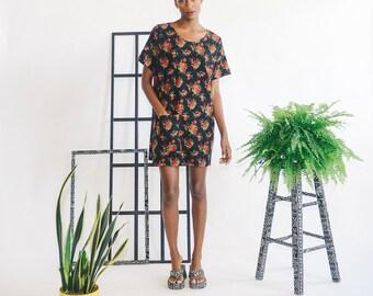 Rosy Pocket Dress