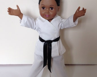 Made to Order: 18 inch Doll Karate Outfit