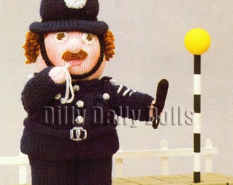 Anne Carol Creations Woolly Wotnots No 29 THE POLICEMAN Toy Doll Ornament Knitting pattern