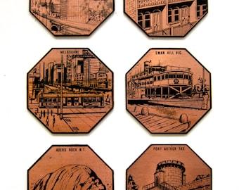 Vintage Australia Coasters Set