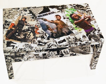 The Walking Dead Comic Collage Coffee Table REDUCED PRICE