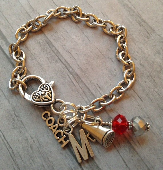 Coach Gift / Cheer Jewelry / Cheerleading Bracelet / Charm