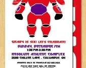 Robot Hero Invitation Printable