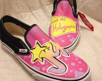 Jem and the Holograms custom Vans