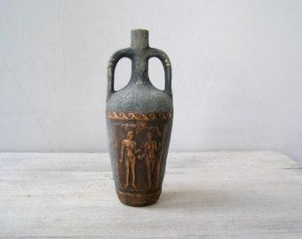 Stoneware Table Vase Vintage, Brutalist Ceramic Vase, Adam & Eve  Art, Genesis Garden of Eden Bible Art, Retro Israel Pottery Collectible