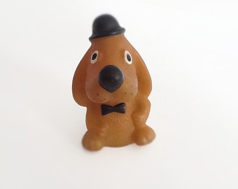 Vintage  RUBBER TOY DOG, his name is Vladimir.