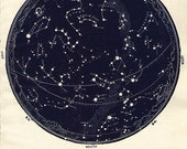 1934 Vintage Star maps 5 & 6 Northern  February March April Astronomy zodiac stars chart maps constellation