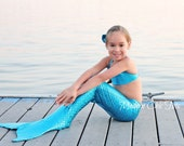 Swimmable Mermaid Tail, Turquoise