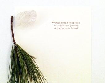 Full Wilderness - Letterpress Haiku
