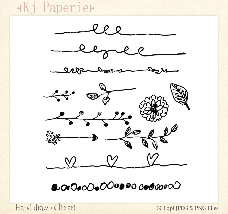 Text Dividers Clip art Hand Drawn clip art scrapbooking