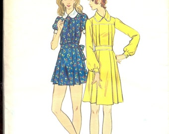 Vintage 1970's Women's Dress Pattern, Butterick 6611 Sewing Pattern, Size 10