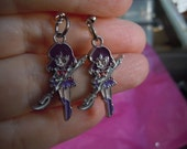 Anime, Sailor Moon, Sailor Saturn, Saturn Earrings, Anime Earrings,