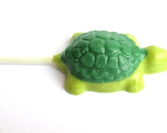 12 Turtle Lollipops, Sea Turtle favors, sea turtle baby shower, sea turtle party favor, chocolate lollipop, chocolate turtle, turtle sucker