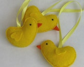 CLEARANCE 50% off - Easter chick decoration felt yellow orange
