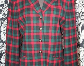 Vintage 1980's Ladies Pendleton Wool Jacket;  Item #350LJ