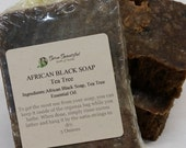 African Black Soap - Tea Tree - Raw African Black Soap