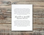 Custom Personalized Wedding Vows with Names and Date Valentine's Day Gift - Typography Print by MJDandSupply