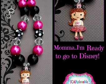 Let's Go to Disney Chunky Necklace