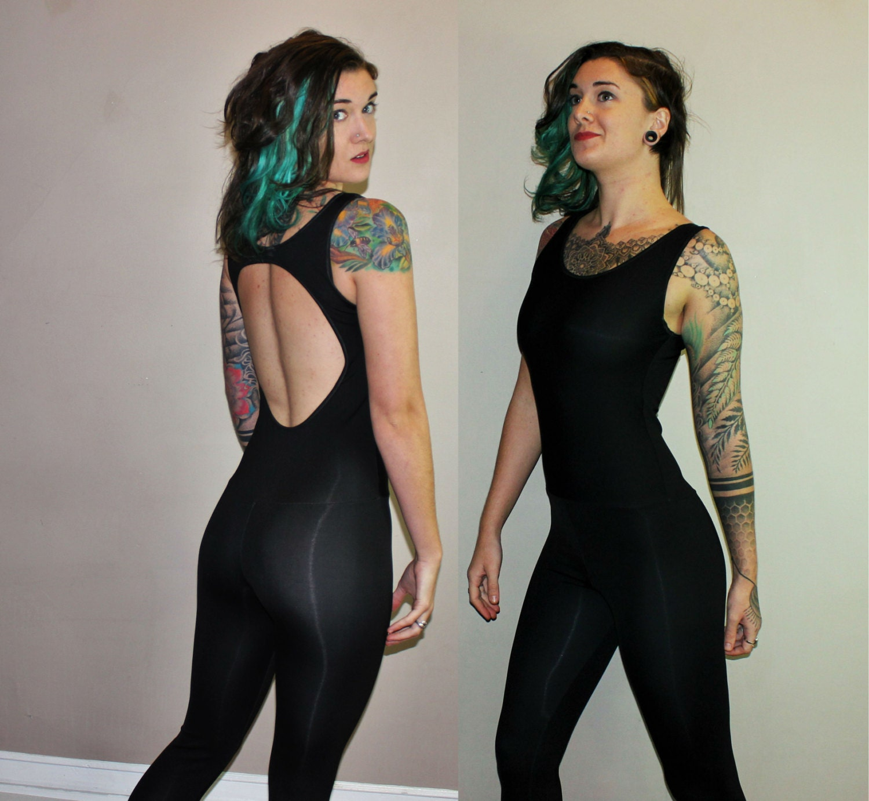 Custom Extra Long Backless Cutout Unitard Dance Yoga Bodysuit